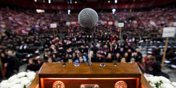 Microphone at commencement