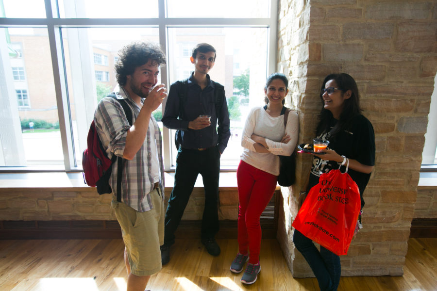 graduate students at welcome event